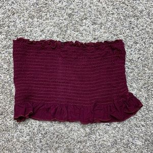 Forever 21 Maroon Tube Top
